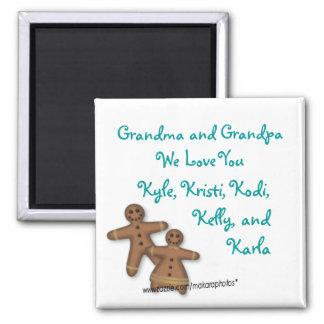 Imán-personalizar de GingerbreadPeople