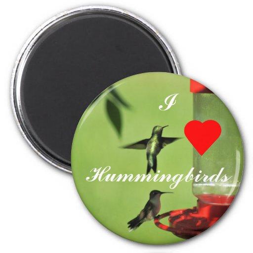 Imán-personalizar de los colibríes del amor