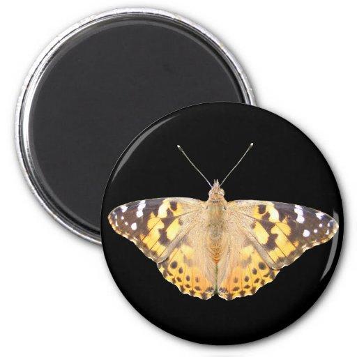 Imán pintado del ~ de señora Butterfly