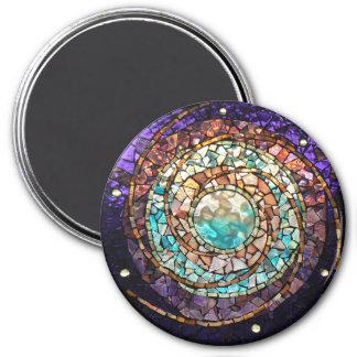 """Imán """"planeta del mosaico del vitral del agua """""""