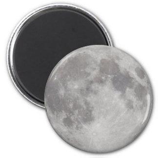 Imán plateado de la luna