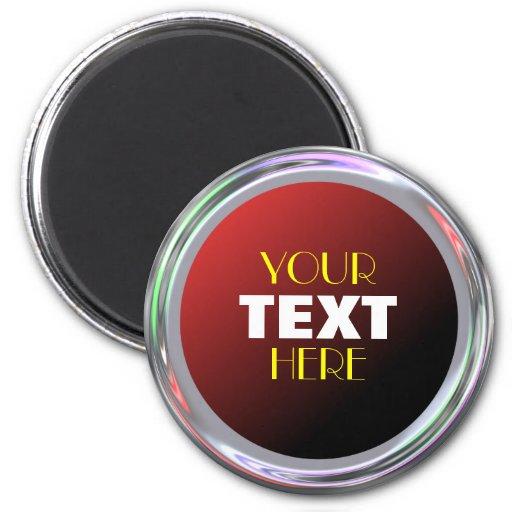 Imán plateado para el texto, el logotipo o la