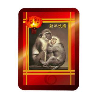 Imán por el año chino de los monos del mono 2016
