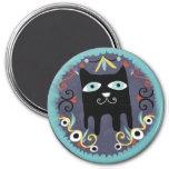 Imán precioso del azul del gato de Kawaii del gati