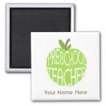 Imán preescolar del profesor - Apple verde