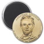 Imán presidencial de la moneda de Abraham Lincoln