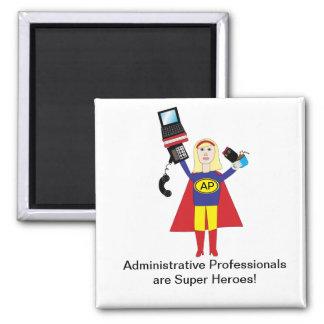 Imán profesional administrativo del superhéroe
