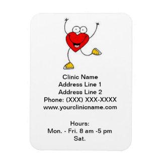 Imán promocional de la clínica (corazón del baile)