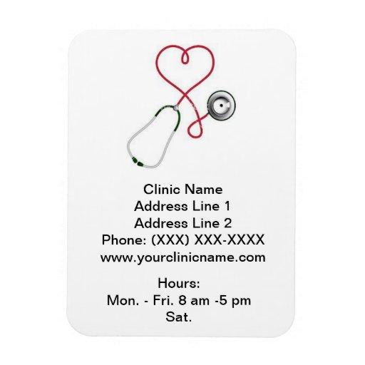 Imán promocional de la clínica/vertical (el Dr. de