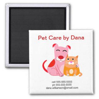 Imán promocional del negocio del mascota