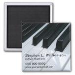 Imán promocional del profesor de piano