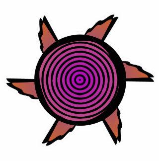 Imán púrpura anaranjado lindo de la flor imán fotoescultura