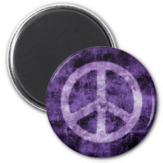 Imán púrpura apenado del signo de la paz