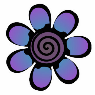Imán púrpura azul lindo de la flor imán fotoescultura