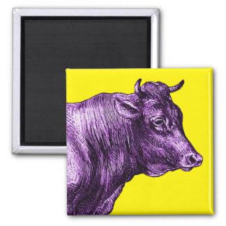 Imán púrpura de Bull de la vaca del vintage