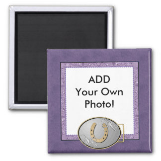 Imán púrpura de la foto del pañuelo de la vaquera