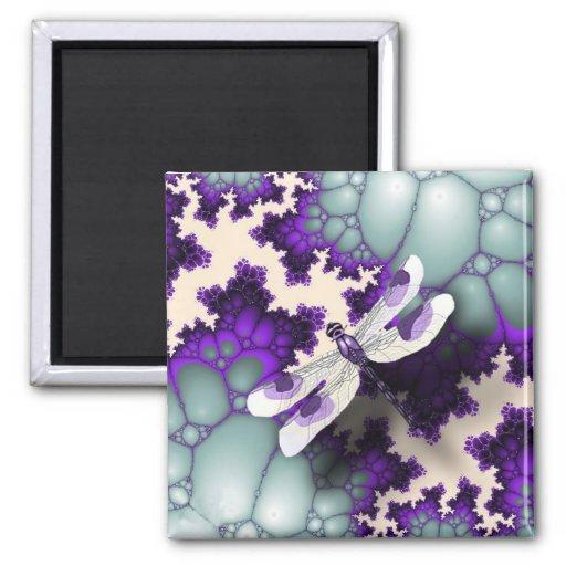Imán púrpura de la libélula