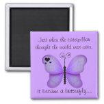 Imán púrpura de la mariposa