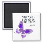Imán púrpura de la mariposa de la felicidad