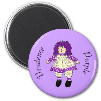 Imán púrpura de la muñeca de trapo -- Púrpura de l