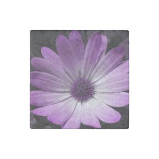 Imán púrpura de la piedra de la flor de la imán de piedra