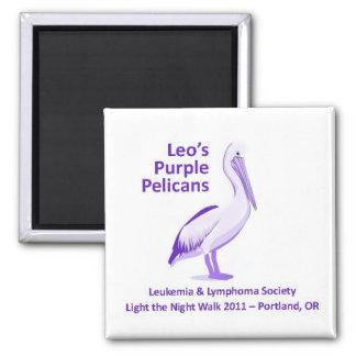 Imán púrpura de los pelícanos de Leo