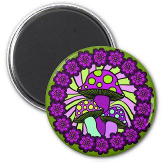 Imán púrpura de tres setas