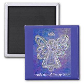 Imán púrpura del ángel con el mensaje modificado p