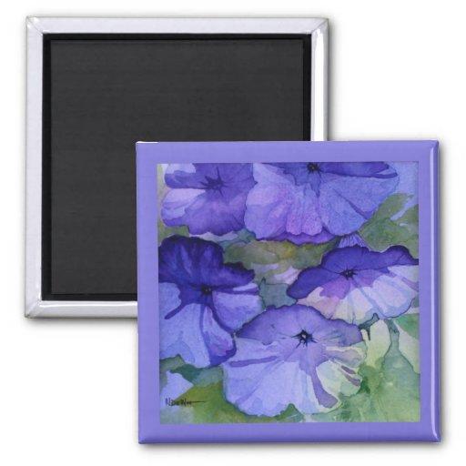 Imán púrpura del cuadrado de la petunia