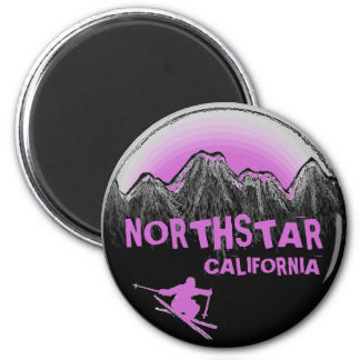 Imán púrpura del esquiador del tema de Northstar C
