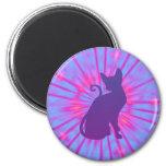 Imán púrpura del gato