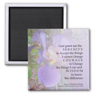Imán púrpura del iris del rezo de la serenidad