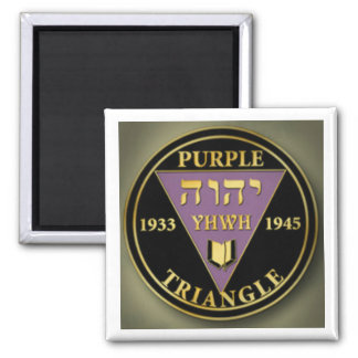 Imán púrpura del oro del triángulo