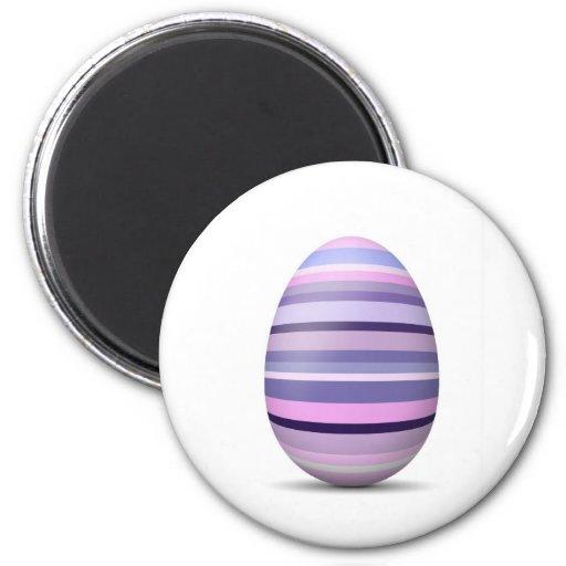 Imán púrpura del refrigerador del huevo de Pascua
