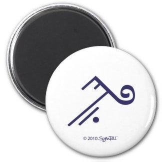 Imán púrpura del símbolo de SymTell que acepta
