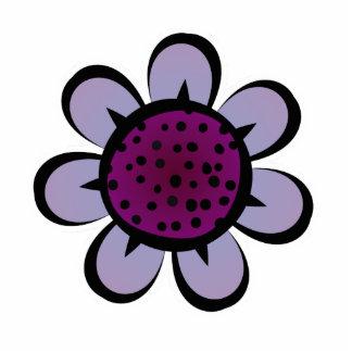 Imán púrpura lindo de la flor imán fotoescultura