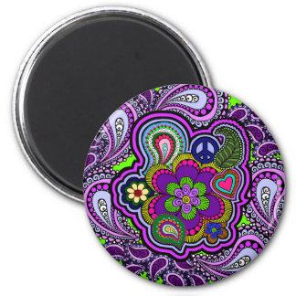Imán púrpura psicodélico de Paisley