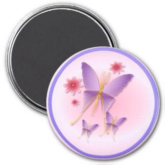 Imán púrpura suave de la mariposa