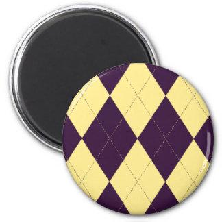 Imán púrpura y amarillo de Argyle