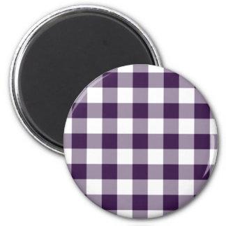 Imán púrpura y blanco clásico del modelo de la