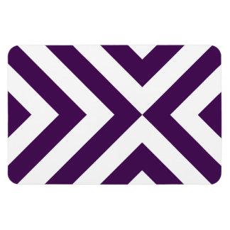 Imán púrpura y blanco del premio de los galones