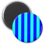 Imán rayado azul