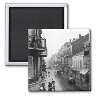 Imán real del barrio francés de la calle de Rainsw