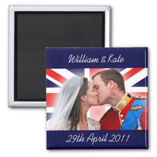 Imán real del beso del boda de Guillermo y de Kate