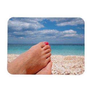 Imán rectangular de la foto de las vacaciones de