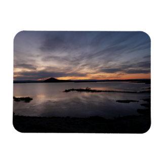 Imán rectangular de la puesta del sol de Myvatn