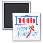 Imán redondo - 10mo aniversario de boda