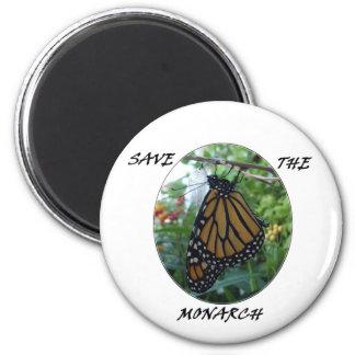 Imán redondo 2 1/4 pulgada, estilo #1 del monarca