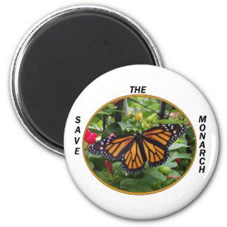 Imán redondo 2 1/4 pulgada, estilo #5 del monarca