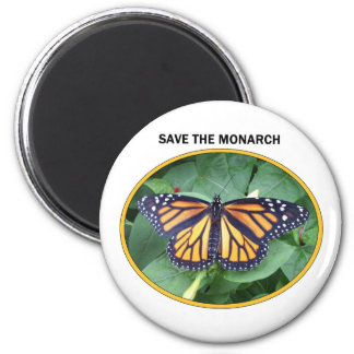 Imán redondo 2 1/4 pulgada, estilo #6 del monarca